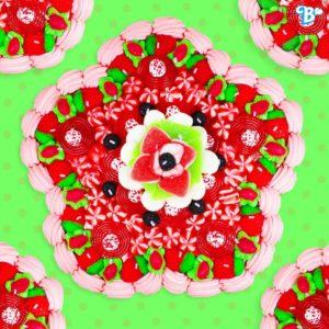 Tarta de gominolas de Belros para San Valentín en Alzamora Alcoy