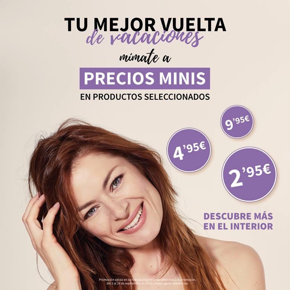 Publicidad de la promoción precios mini de Equivalenza Alcoy