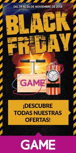 Imagen de la cartelería del Black Friday 2018 de GAME.