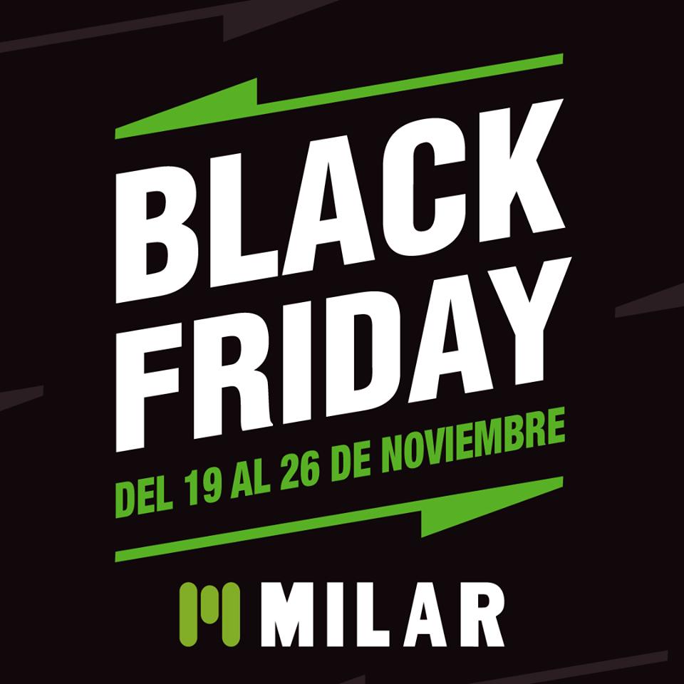 Imagen de la semana del Black Friday de Milar de 2018.