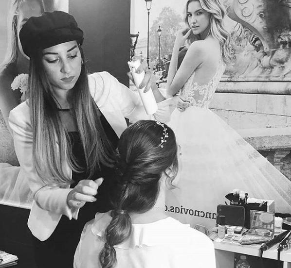 Imagen de la maquilladora y peluquera profesional Paloma Barba.