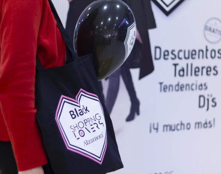 Tote Bag premio Alzamora Alcoy Black Shopping Lovers