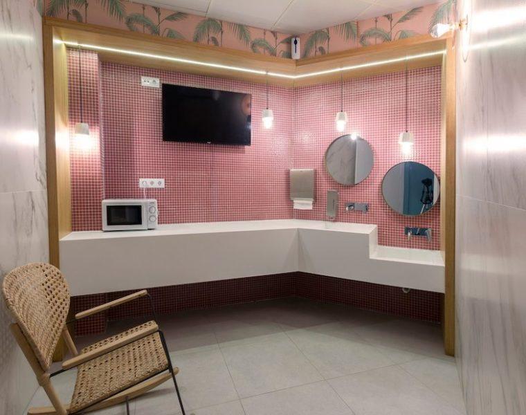 Detalle de la sala de lactancia de Alzamora