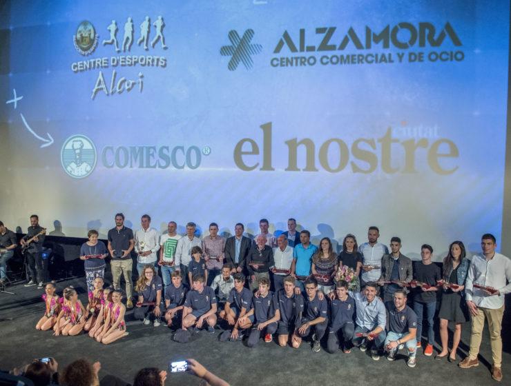 Imagen de los Premis El Nostre Esport en Alzamora en 2018
