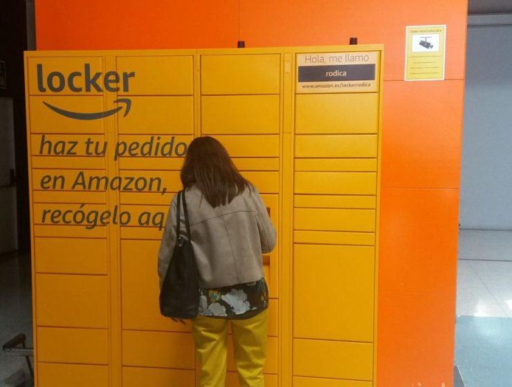 Instantánea de los Amazon Locker en Alzamora